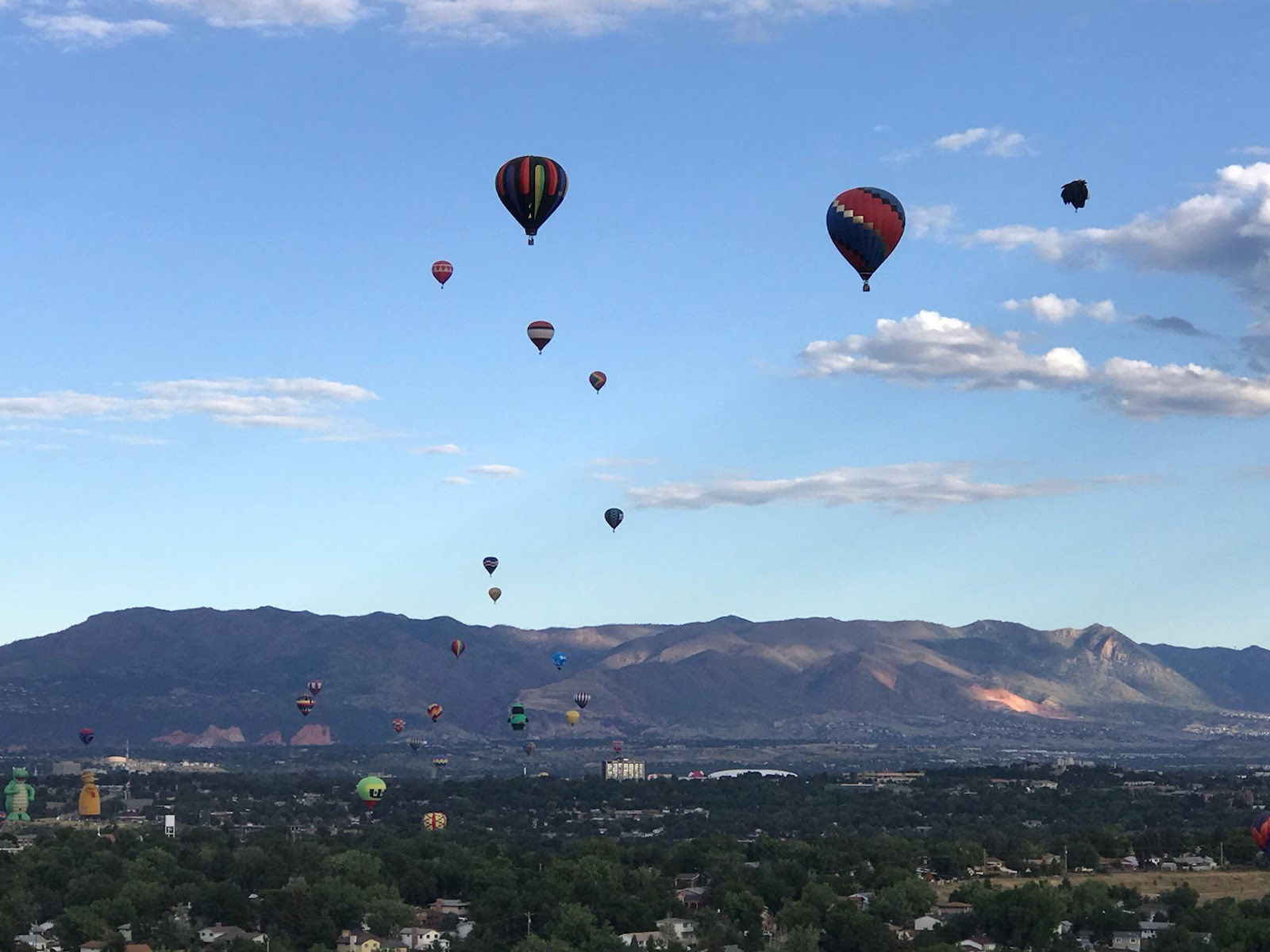 Hot air balloons rise over Colorado Springs on the final morning of the 2019 Labor Day Lift Off. / Shawn Shanle - FOX21 News