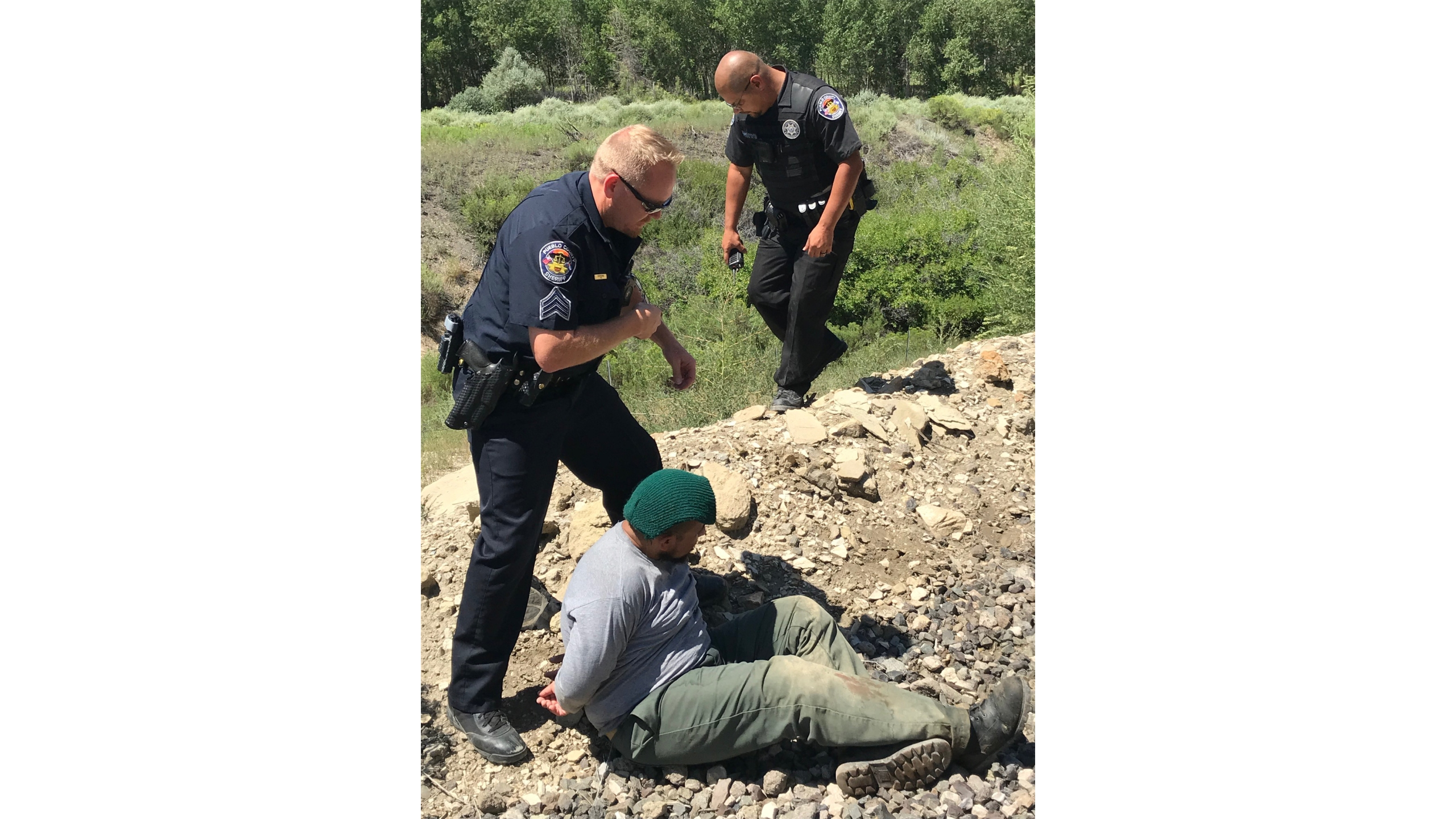 Pueblo County sheriff's deputies took two inmates into custody after they escaped from a minimum security prison camp near Florence. / Photo courtesy Pueblo County Sheriff's Office