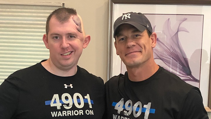 Cem Duzel and John Cena / Photo courtesy Colorado Springs Police Department