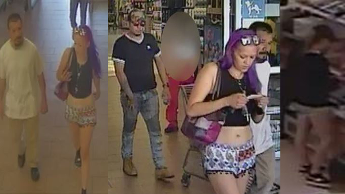 Surveillance images show suspects accused of using stolen credit cards at a Colorado Springs Walmart in August. / Courtesy El Paso County Sheriff's Office