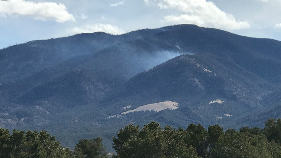 The Decker Fire on Wednesday afternoon. / Photo by Hugh Clark
