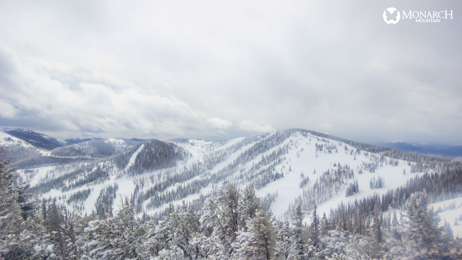 Monarch Mountain around noon Tuesday. / Photo courtesy Monarch Mountain