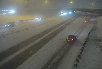 Eastbound Interstate 70 at Peña Bouevard in Denver around 6:45 a.m. Tuesday / Photo courtesy Colorado Department of Transportation