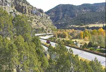 Interstate 70 through Glenwood Canyon around 12 p.m. Tuesday. / Colorado Department of Transportation