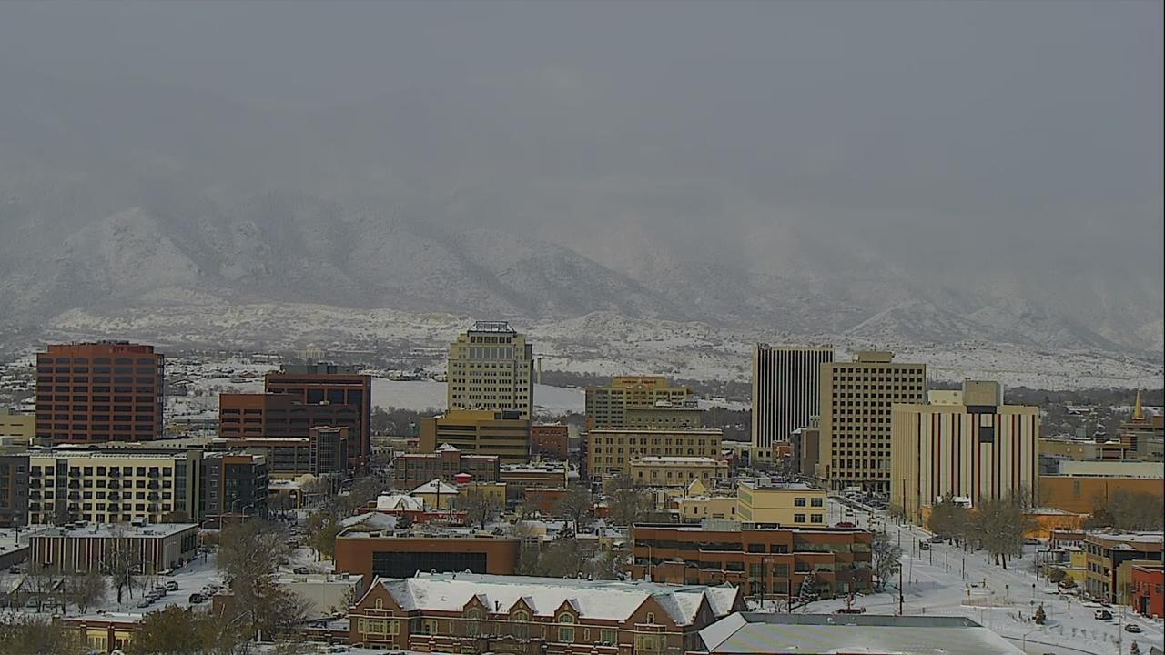 Downtown Colorado Springs around 10 a.m. Wednesday.