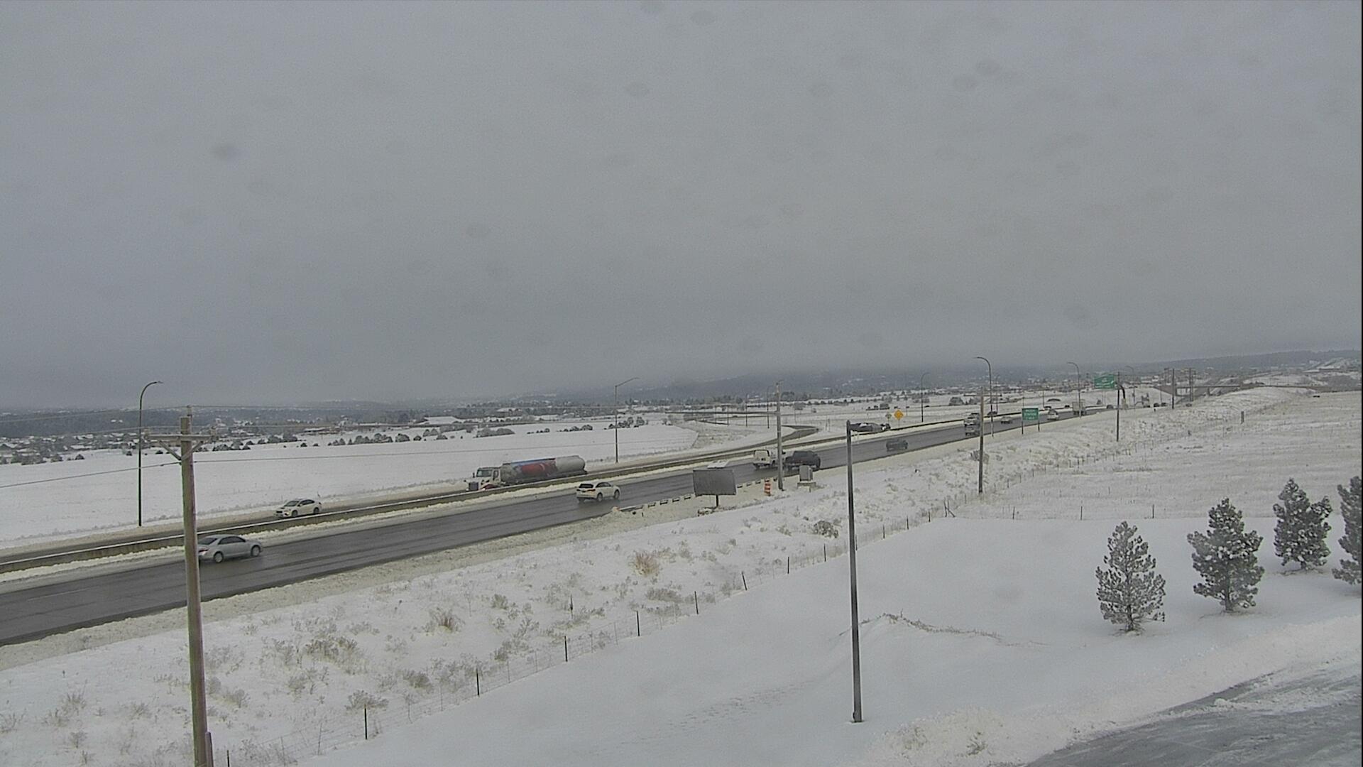 Interstate 25 in Monument around 7:45 a.m. Wednesday.