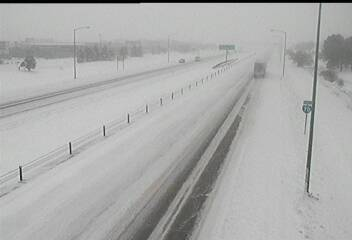 Interstate 70 near Tower Road around 8:45 a.m. Tuesday. / Photo courtesy CDOT