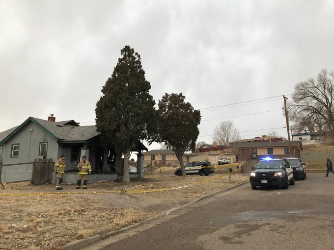 Firefighters found a man dead in a burning home in Pueblo Thursday morning. / Photo courtesy Pueblo Police Department