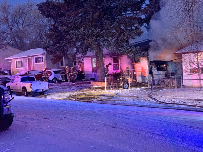 Firefighters respond to a house fire in central Colorado Springs Friday morning. / Photo courtesy Colorado Springs Fire Department