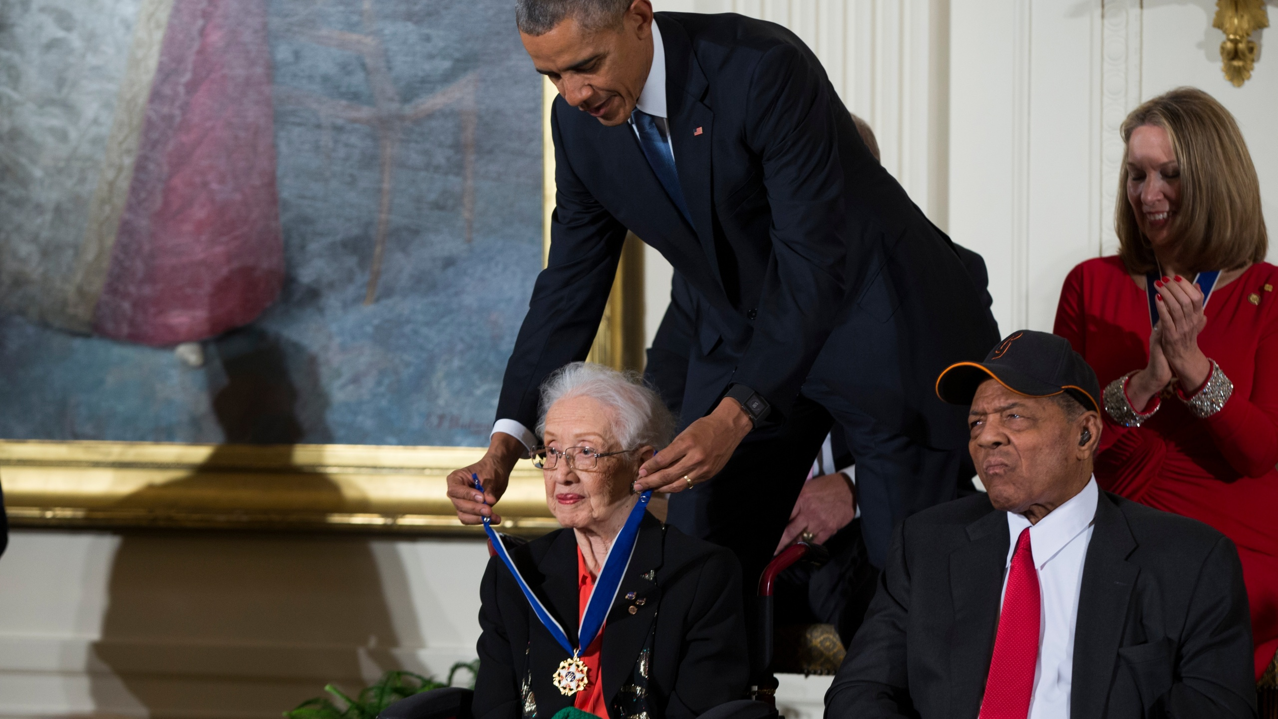 Barack Obama, Katherine Johnson, Willie Mays