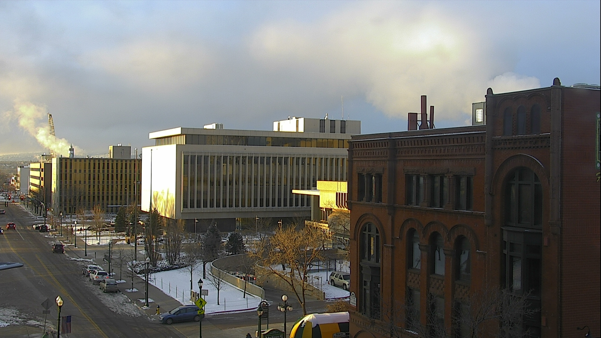 Fog clears out over Tejon Street in downtown Colorado Springs around 7:30 a.m. Wednesday.