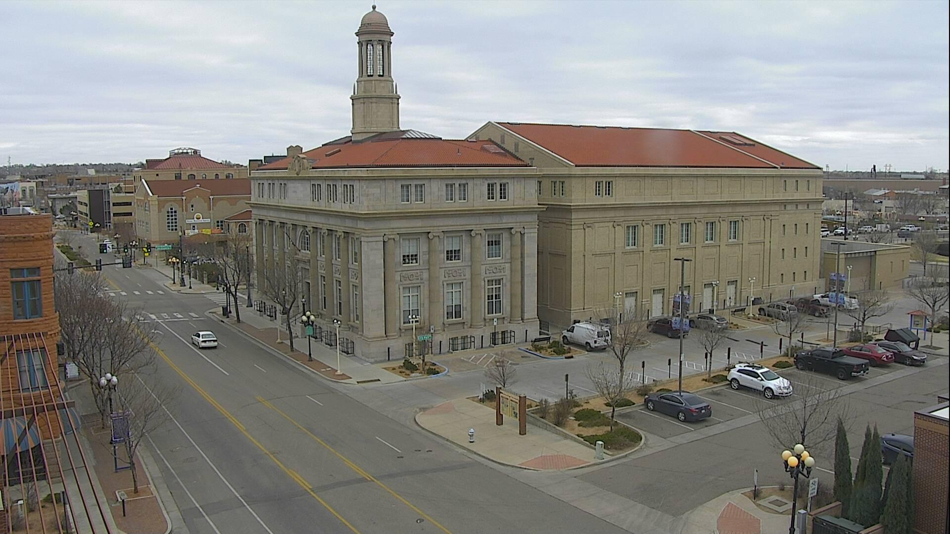 Downtown Pueblo around 1:30 p.m. Friday,
