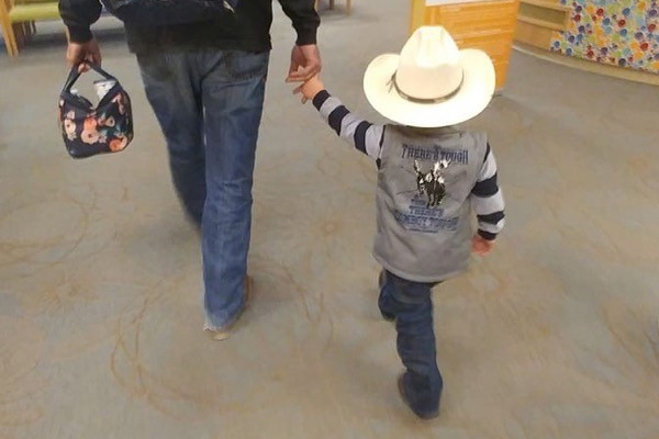 Clayton is a cancer fighting cowboy battling ALL.