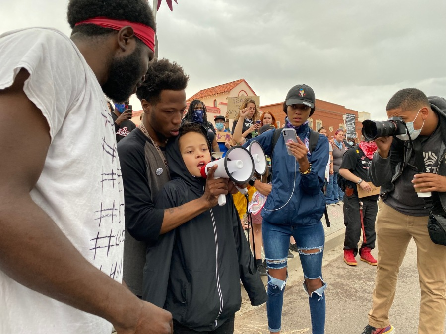 Protest against the death of George Floyd Sunday, May 31 in downtown Colorado Springs. / Photo by Courtney Fromm - FOX21 News