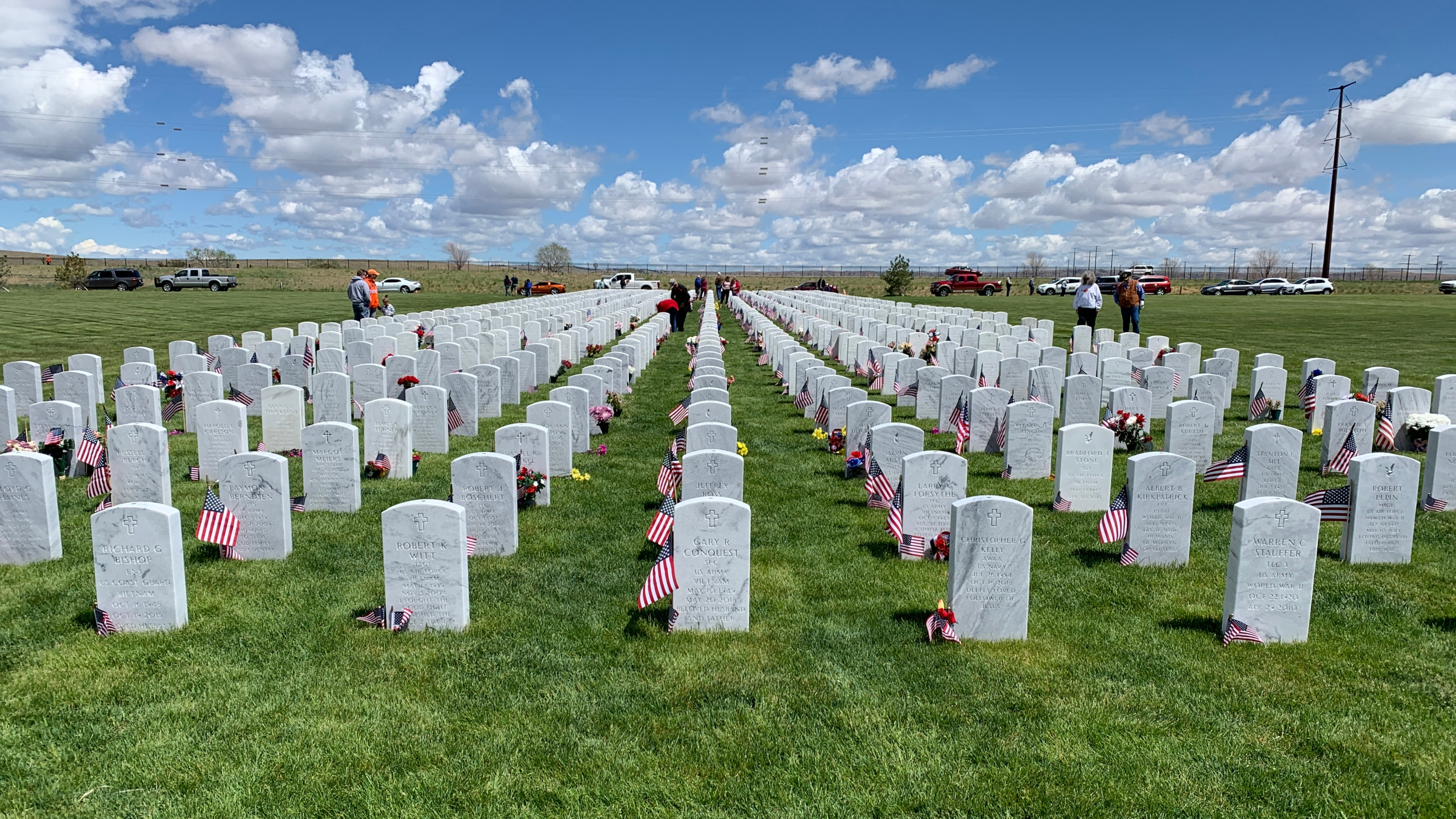 Flags honor veterans buried at the Pikes Peak National Cemetery. / Sarah Hempelmann - FOX21 News