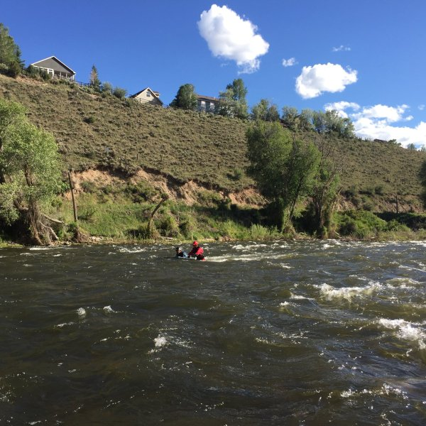 Members of the Vail Mountain Rescue Group and U.S. Raft Team search the Eagle River June 10. / Photo courtesy Vail Mountain Rescue Group