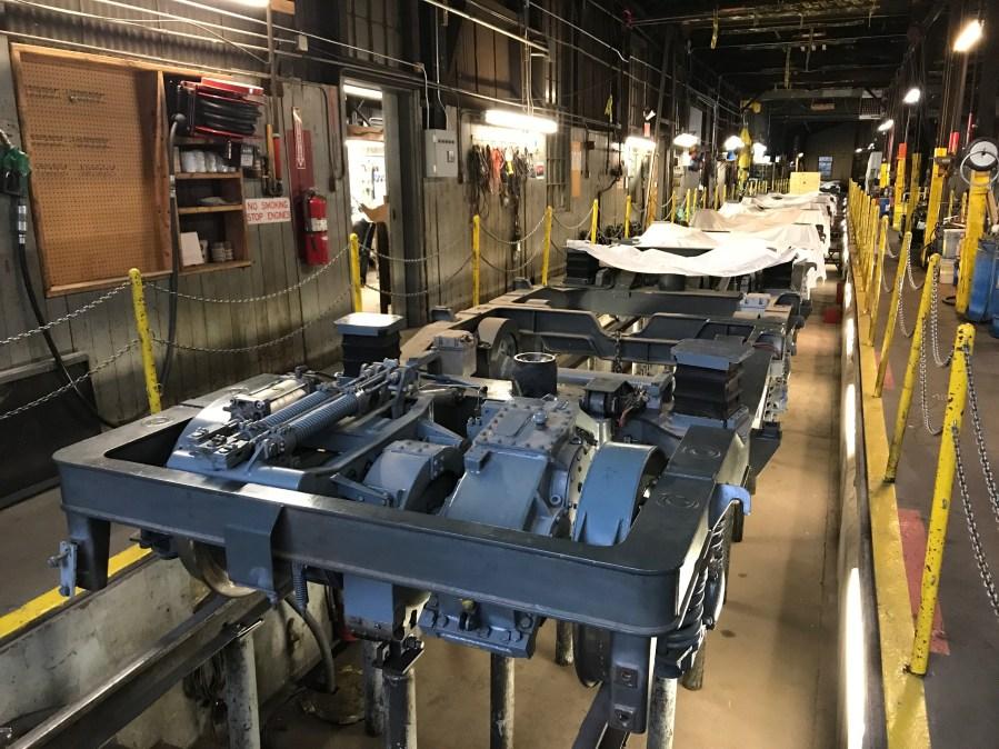 Inside the Cog Railway maintenance shop Wednesday, August 26. / Shawn Shanle - FOX21 News