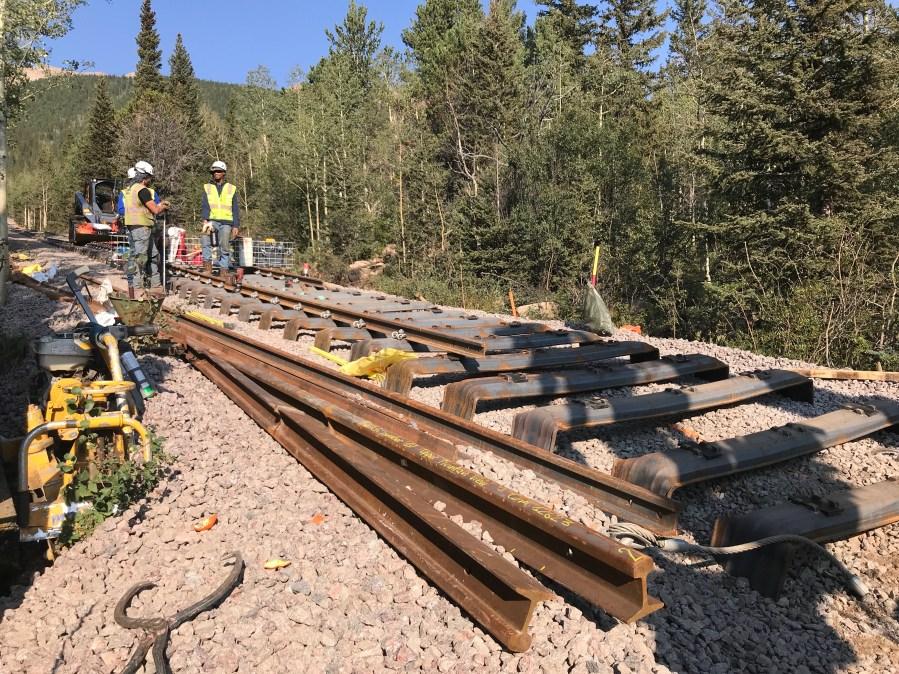 Work on the Pikes Peak Cog Railway Wednesday, August 26. / Shawn Shanle - FOX21 News