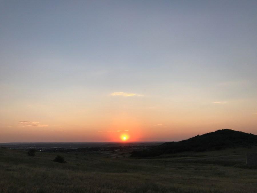 Sunrise at Cheyenne Mountain State Park on August 31, 2020. / Shawn Shanle - FOX21 News