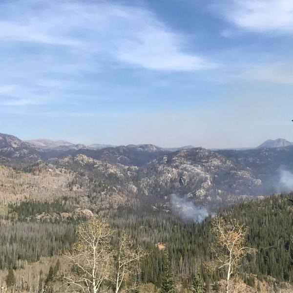 Smoke over the Middle Fork Fire on Monday, September 28. / Courtesy Middle Fork Fire Information