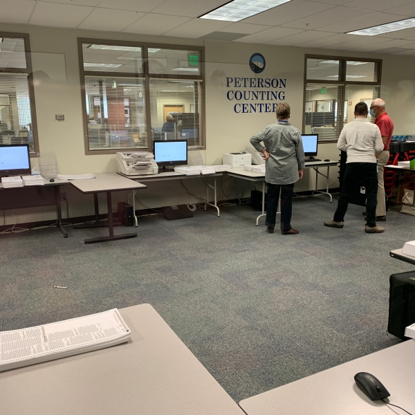 The El Paso County Clerk and Recorder's Office conducts a public Logic and Accuracy test on ballot-counting equipment that will be used for the November election. / Sarah Hempelmann - FOX21 News