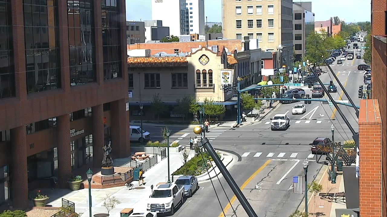 Tejon Street and Colorado Avenue around 1 p.m. Thursday.