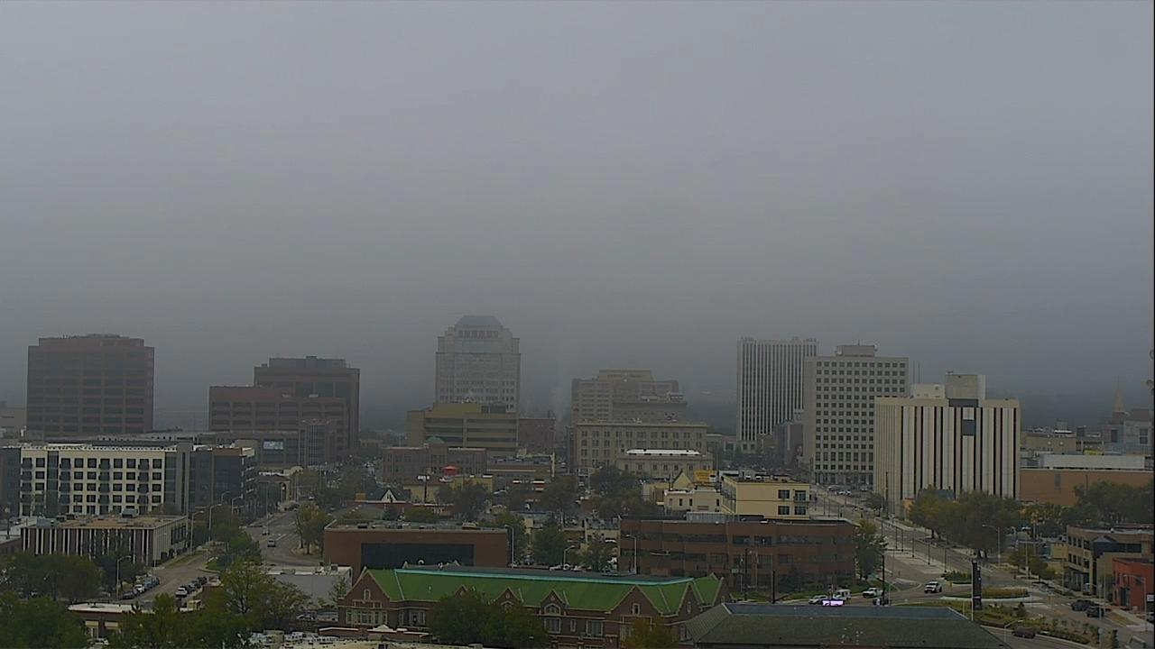The downtown Colorado Springs skyline around 9:30 a.m. Thursday.