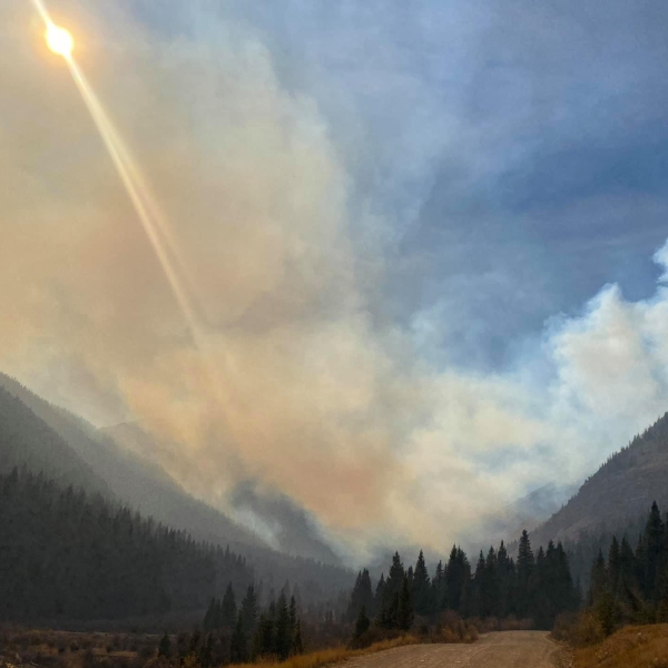 The Ice Fire on Monday, October 19. / Courtesy Office of Emergency Management, San Juan County Colorado