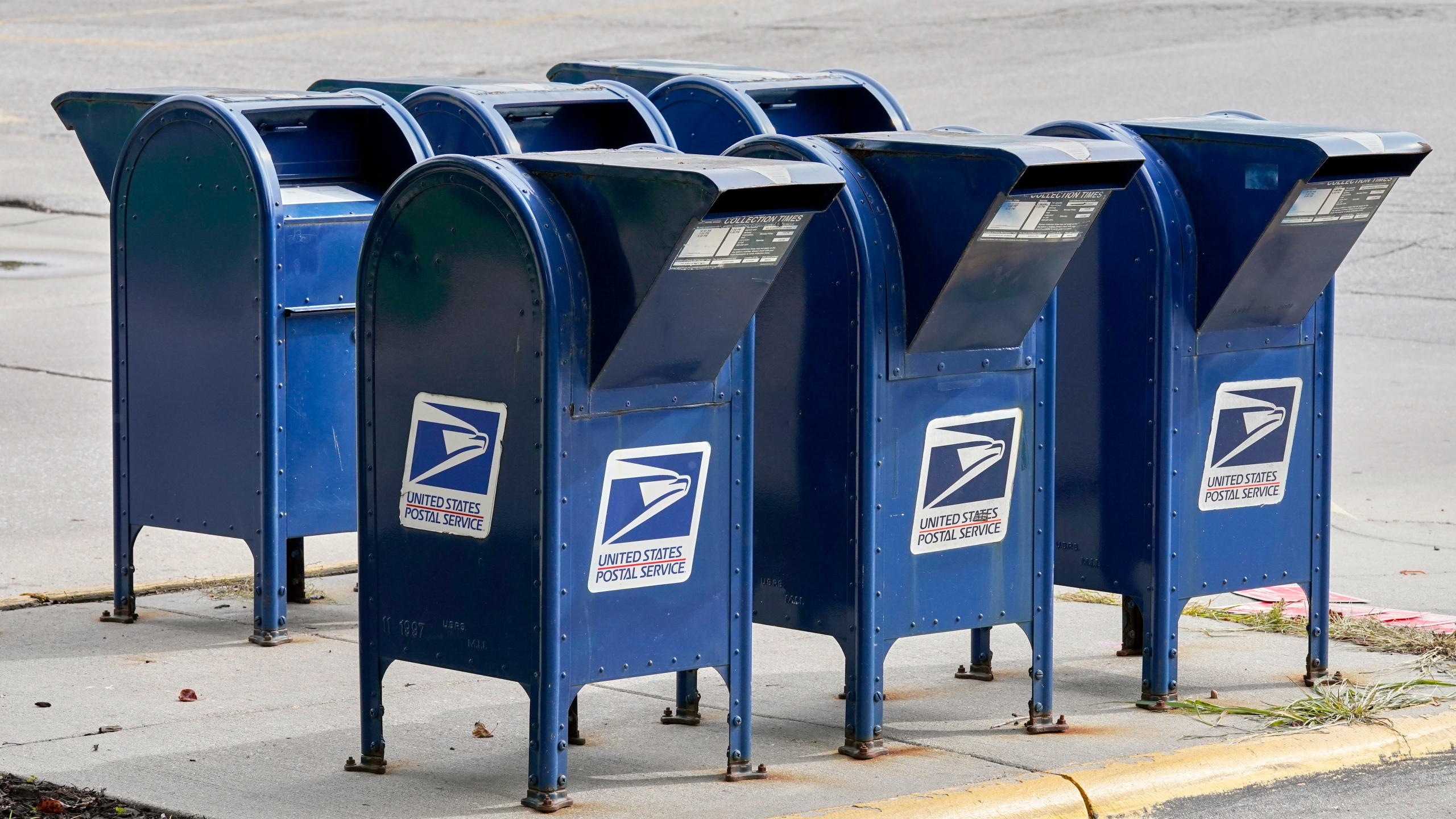Mailboxes in Omaha, Neb., Tuesday, Aug. 18, 2020.(AP Photo/Nati Harnik)