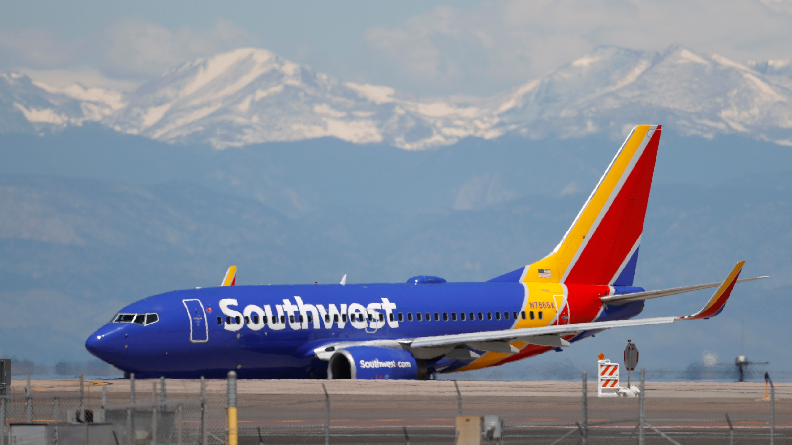 A Southwest Airlines jetliner taxis to a runway for take off at Denver International Airport as travellers deal with the effects of the new coronavirus Wednesday, June 10, 2020, in Denver. (AP Photo/David Zalubowski)