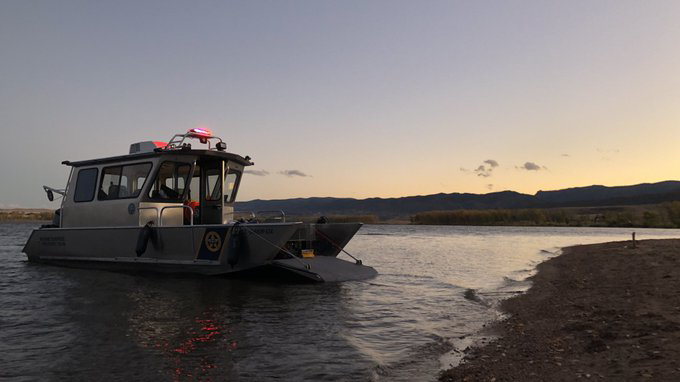 Colorado Parks and Wildlife's Marine Evidence Recovery Team searches for the body of a missing person in Chatfield Reservoir Sunday evening. / Photo courtesy Colorado Parks and Wildlife