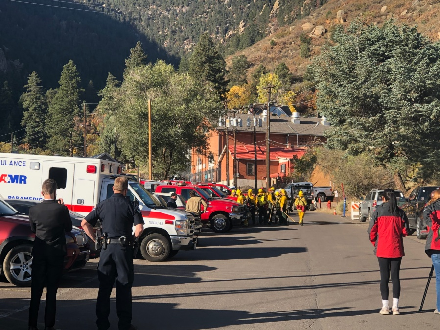 The Incline Fire staging area Friday morning. / Lauren McDonald - FOX21 News