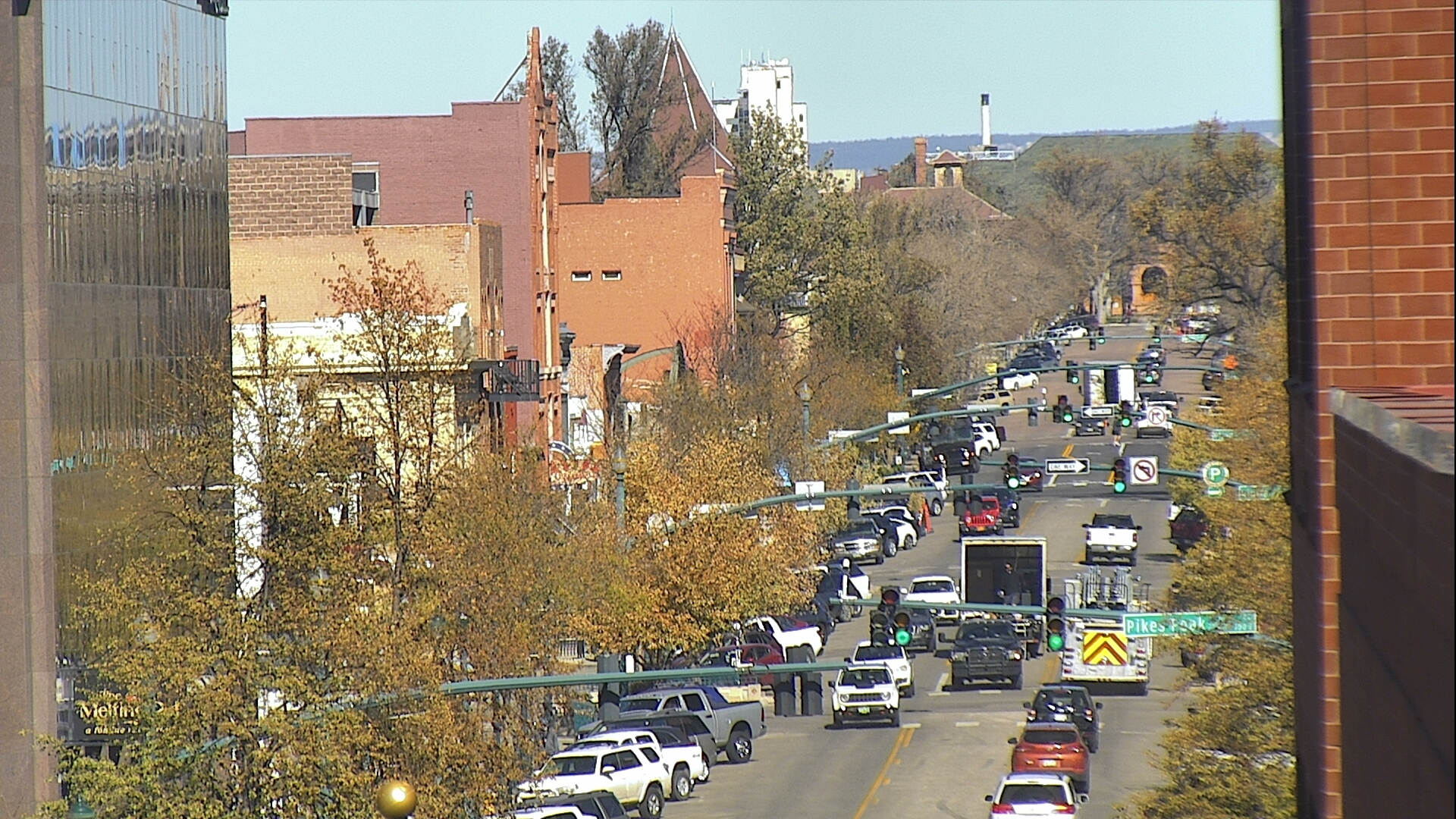 Tejon Street in downtown Colorado Springs around noon Friday.