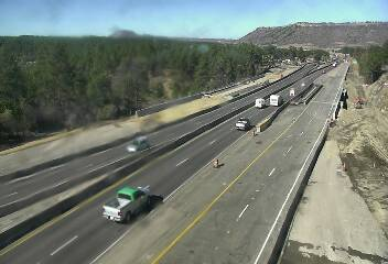 Northbound Interstate 25 at Upper Lake Gulch Road around 2 p.m. Friday. / Photo courtesy CDOT