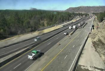Northbound Interstate 25 at Upper Lake Gulch Road around 2 p.m. Friday. / Photo courtesy CDOT