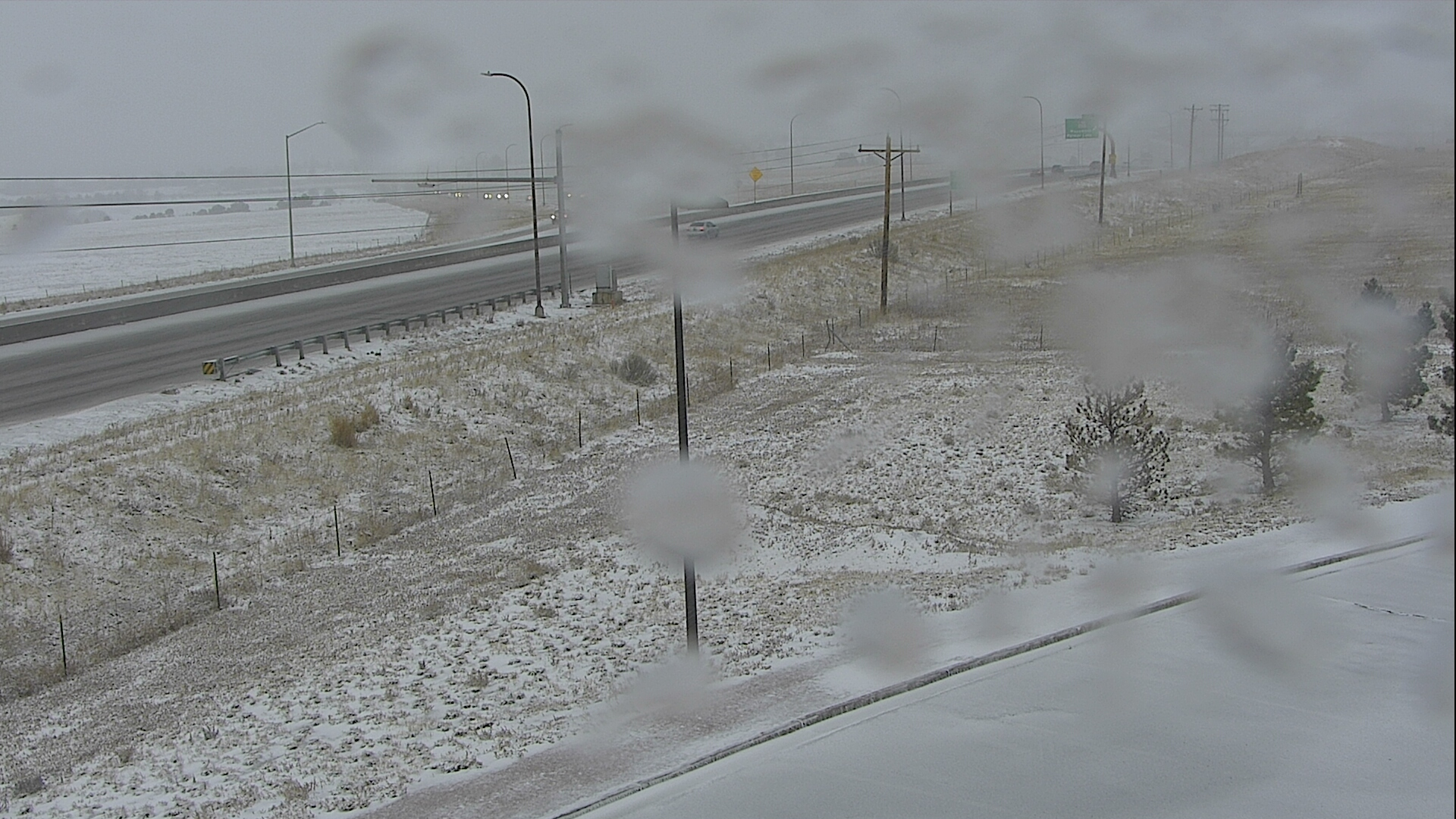Interstate 25 in Monument around 7:30 a.m. Tuesday.