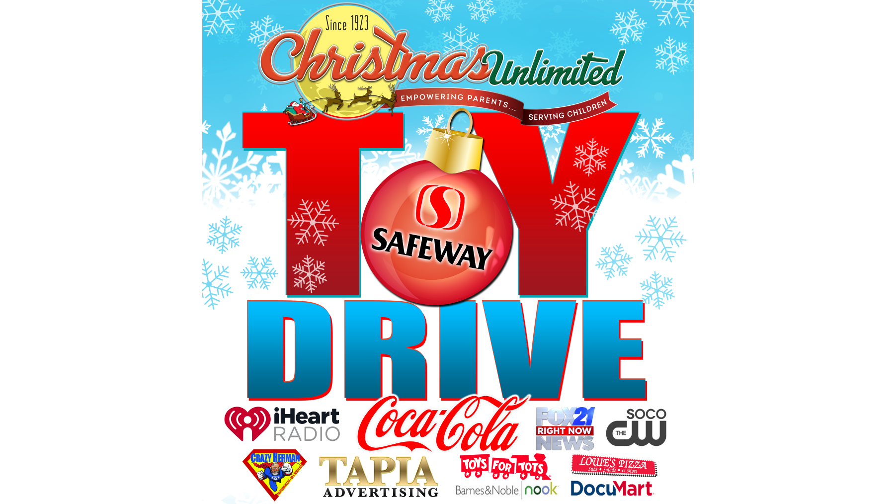 Help Christmas Unlimited stuff the sleigh for their 2020 toy drive