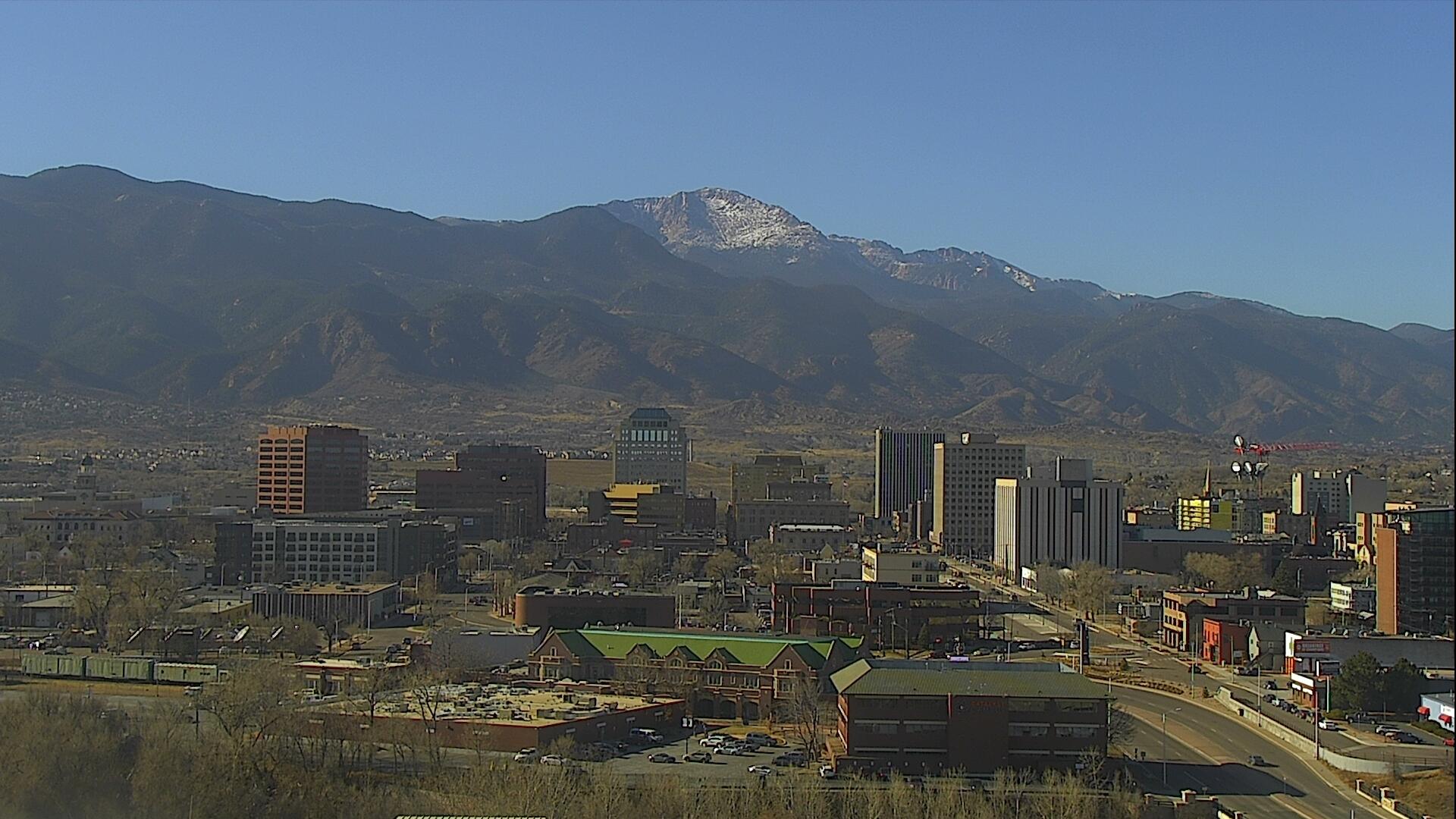 The Colorado Springs Skyline around 1 p.m. Wednesday.
