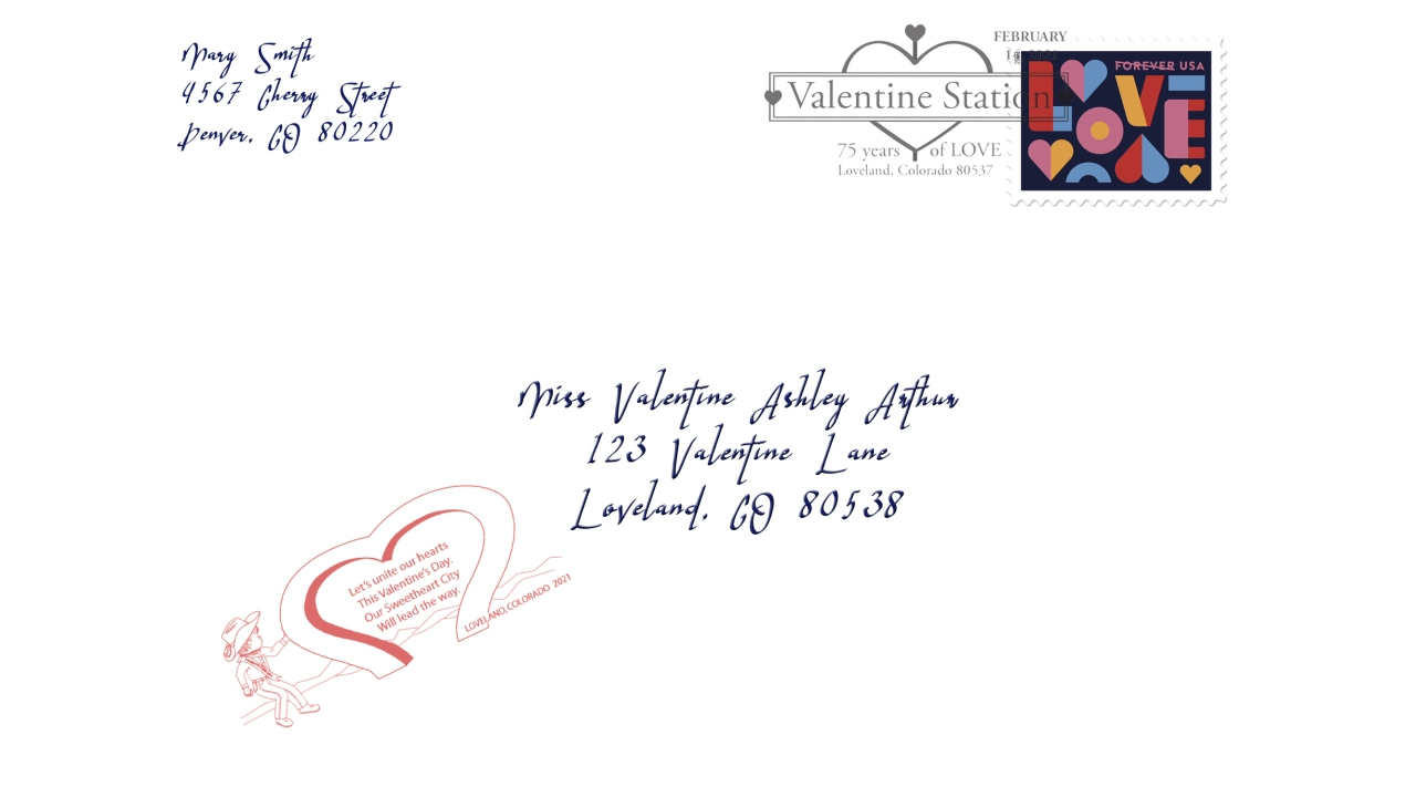add extra love to your valentines with a postmark from