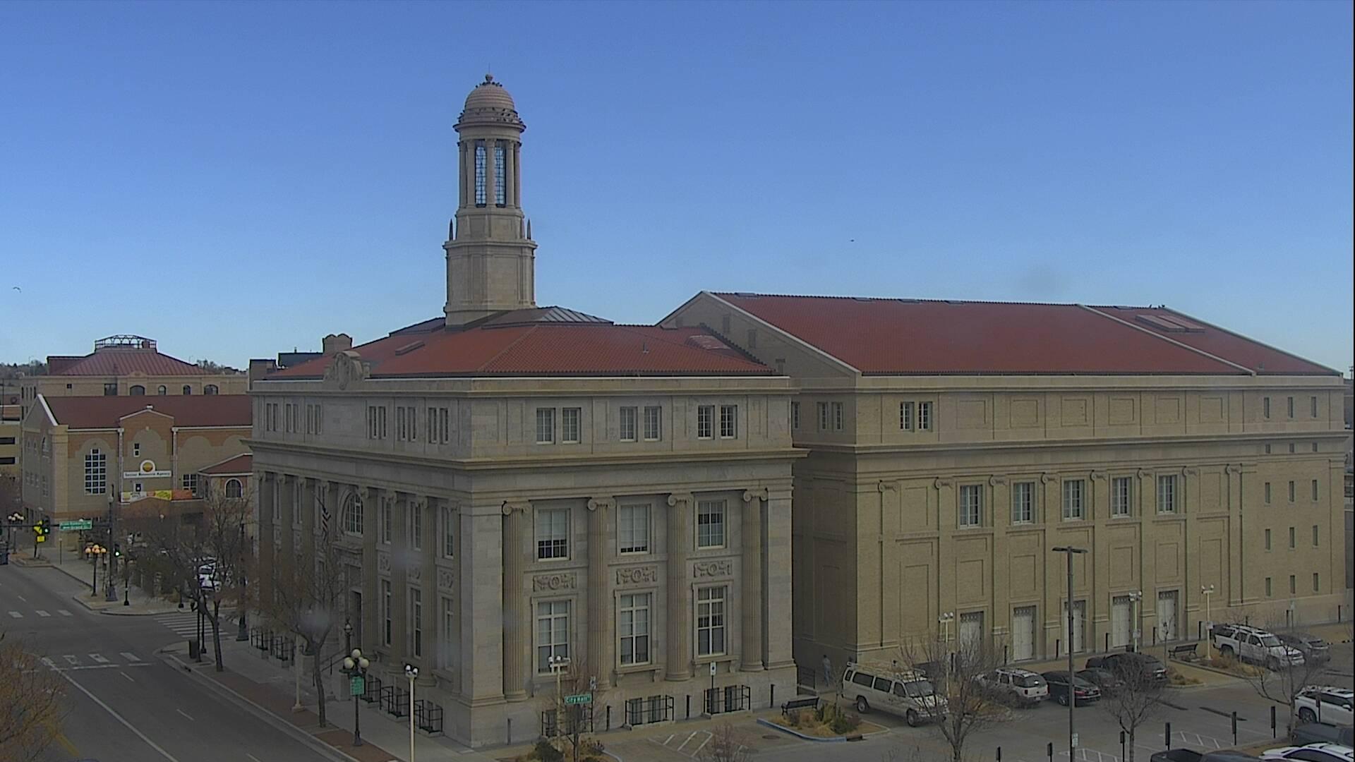 Pueblo city hall around 11:30 a.m. Thursday.