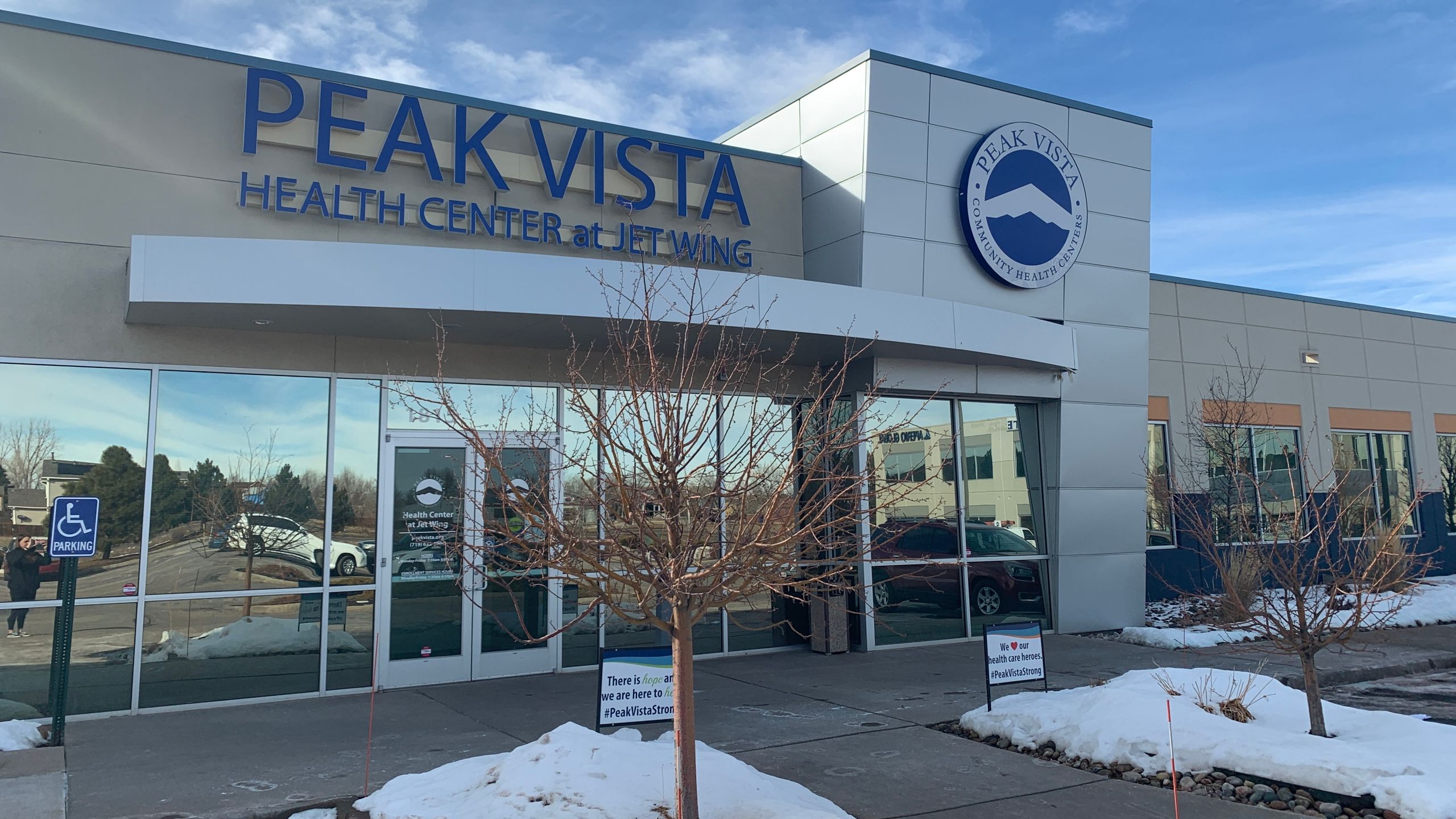 Peak Vista Community Health Center began distributing vaccines to people over age 70 on Wednesday. / Sarah Hempelmann - FOX21 News