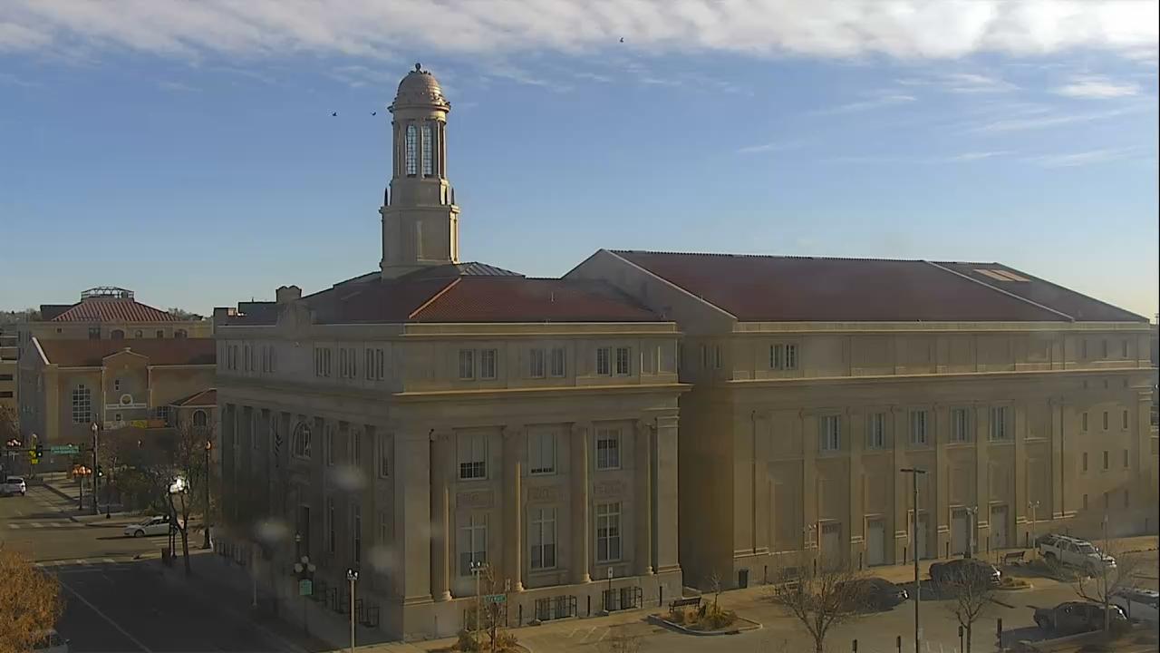 Pueblo city hall around 9 a.m. Thursday.