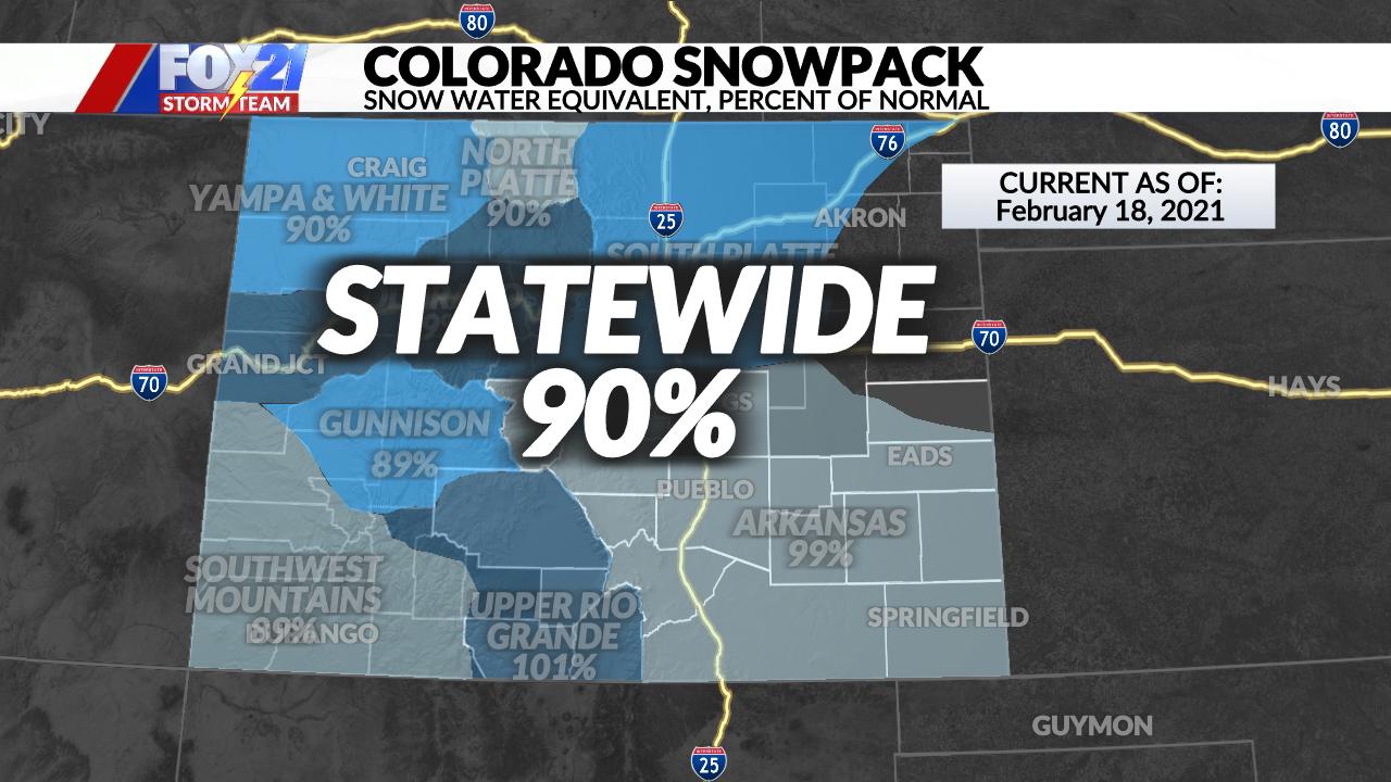 Colorado Drought Conditions Starting To Improve Fox21 News Colorado