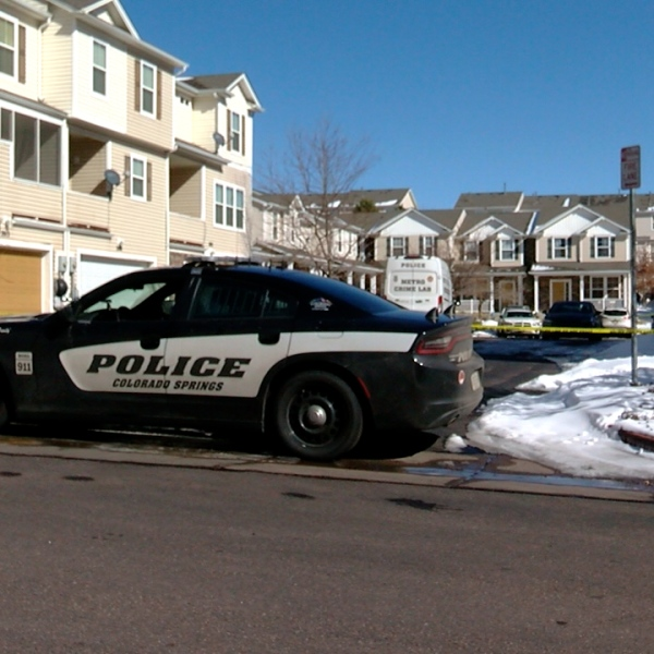 Police investigate a fatal shooting at a home on Squawbush Ridge Grove in southeastern Colorado Springs Saturday. / Joe Swanson - FOX21 News