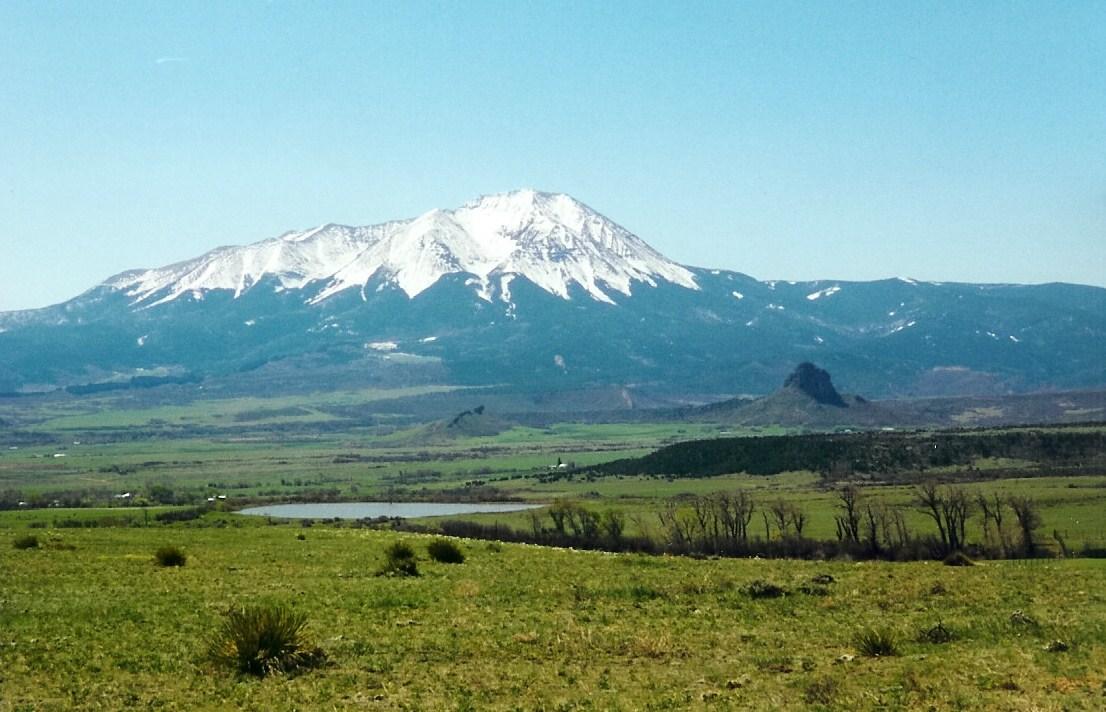 The Spanish Peaks near La Veta, along the Highway of Legends. / Photo by Sally Pearce, CDOT