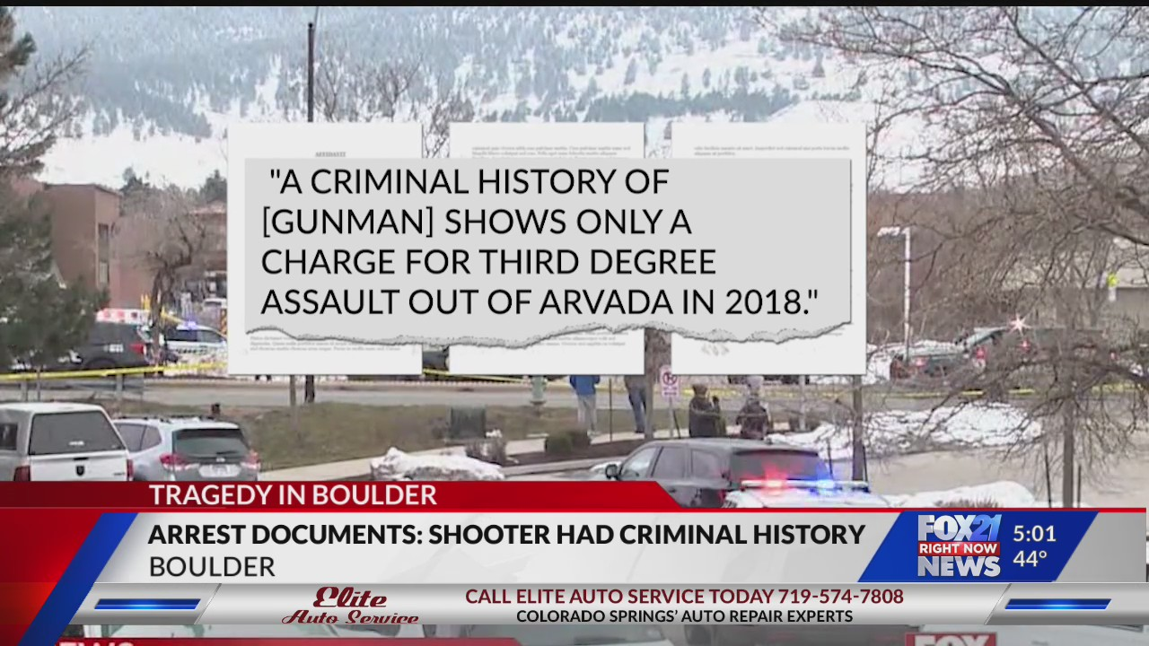 Arrest papers: Suspected shooter has criminal history ...