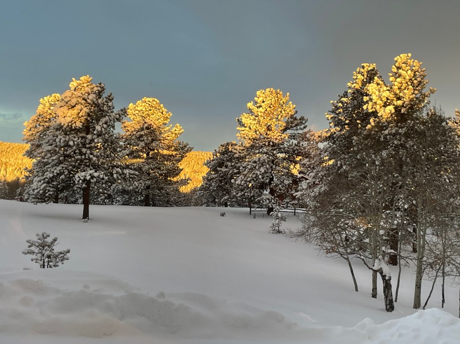 Sunrise in Teller County Monday, from George Smith