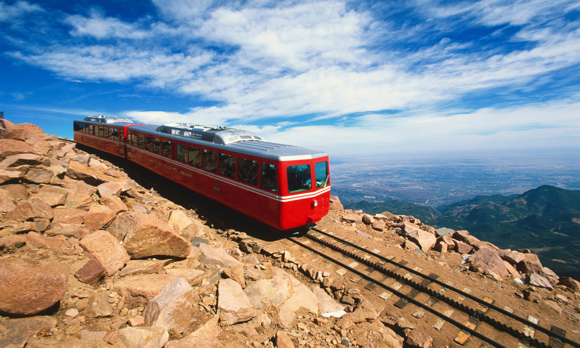 Photo courtesy The Broadmoor Manitou and Pikes Peak Cog Railway shows the train in action before it closed for renovations in 2017.