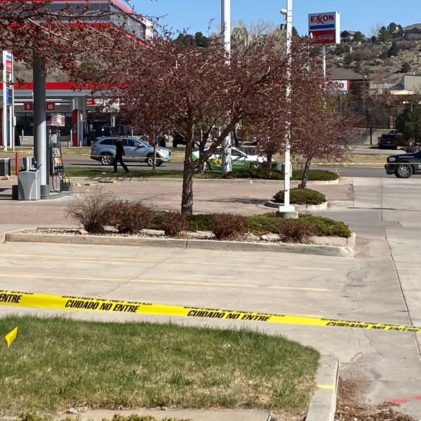 A Colorado Springs police officer shot a man carrying a gun at a Phillips 66 off Garden of the Gods Road Thursday morning, according to police. / Photo by Joe Swanson - FOX21 News