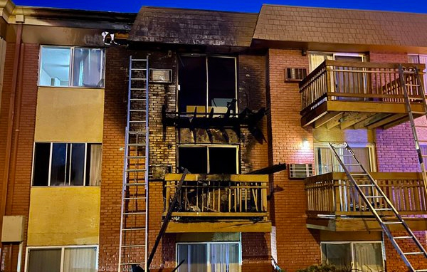 Two apartments were damaged in a fire in northern Colorado Springs Monday morning. / Courtesy Colorado Springs Fire Department
